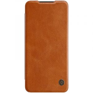 Galaxy A21s-Qin Leather Case-Brown
