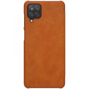 Galaxy A12-Qin Leather Case-Brown