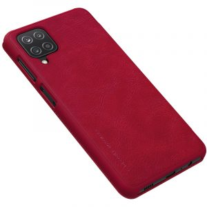 Galaxy A12-Qin Leather Case-Red