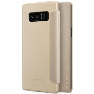 Galaxy Note 8-Sparkle Leather Case-Golden