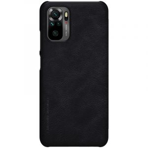 Redmi Note 10 4G/Note 10S-Qin Leather Case-Black