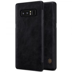 Galaxy Note 8-Qin Leather Case-Black