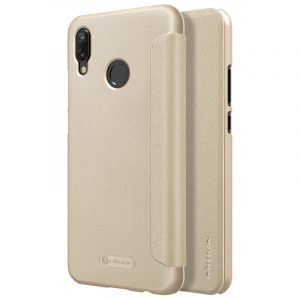 Huawei P20-Sparkle Leather Case-Golden